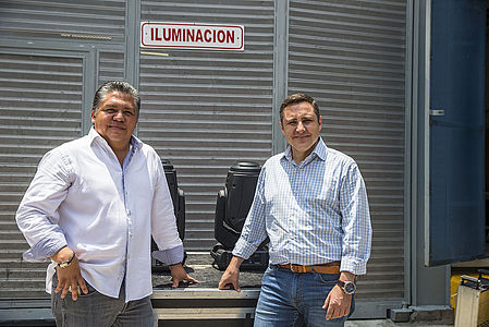 Miguel Osorno on the left with Manolo Toledo